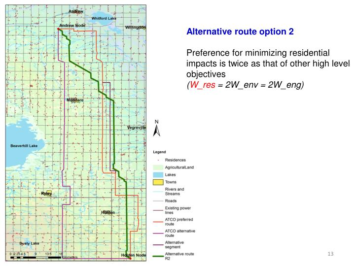 Alternative route option 2