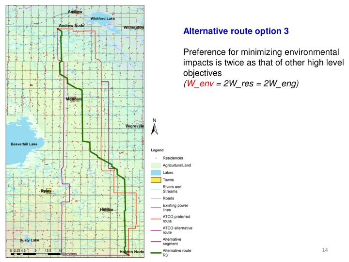 Alternative route option 3