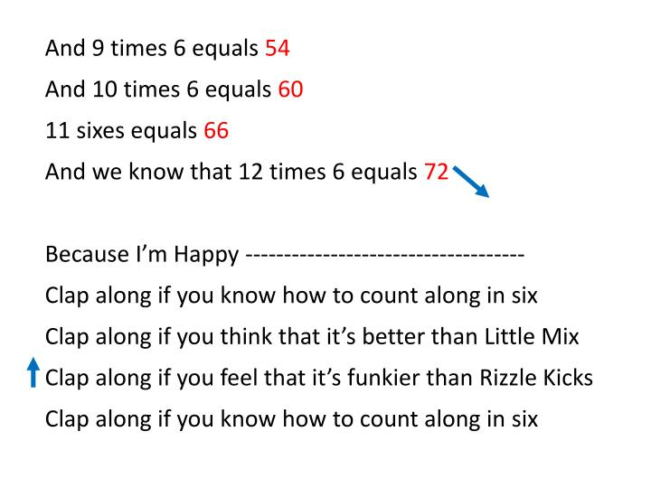 And 9 times 6 equals