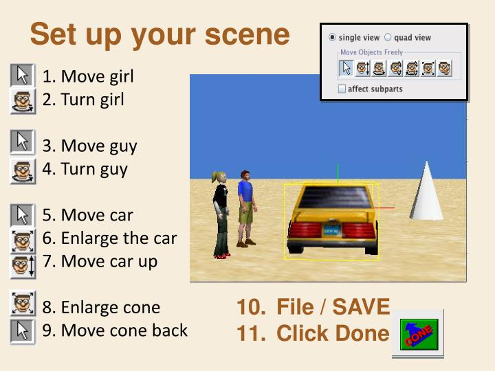 Set up your scene