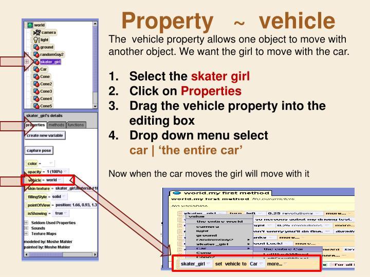Property   ~  vehicle