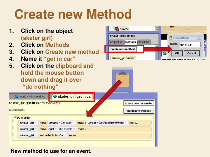 Create new Method