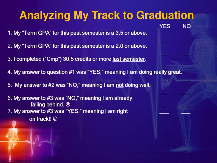 Analyzing My Track to Graduation