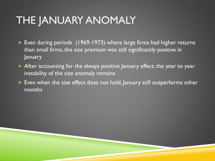 The January Anomaly