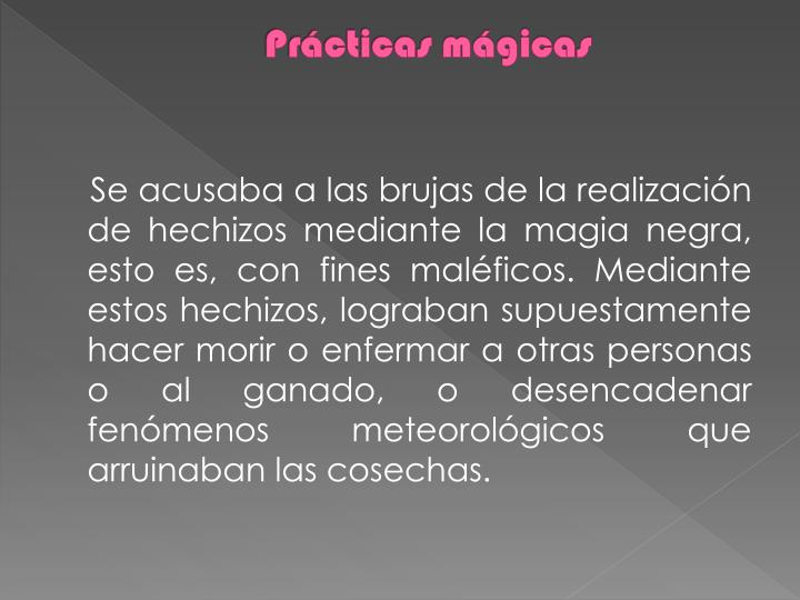 Prácticas mágicas