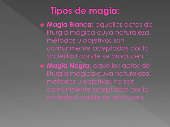 Tipos de magia: