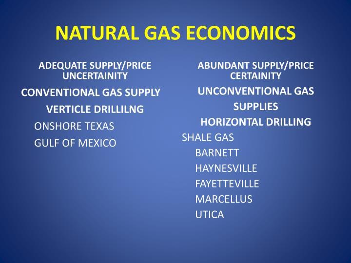 NATURAL GAS ECONOMICS