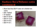 surface area volume ratio continued1