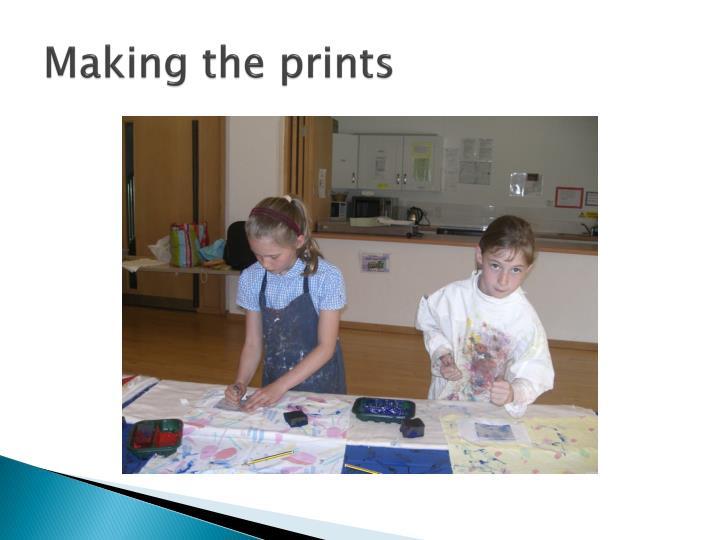 Making the prints