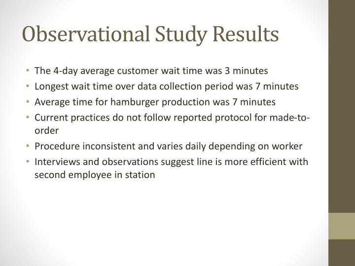 Observational Study Results