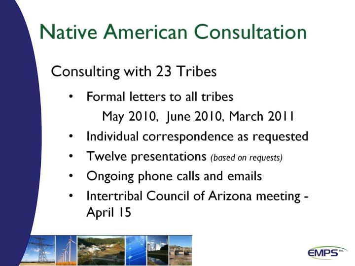 Native American Consultation