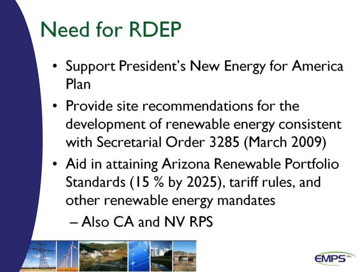 Need for RDEP
