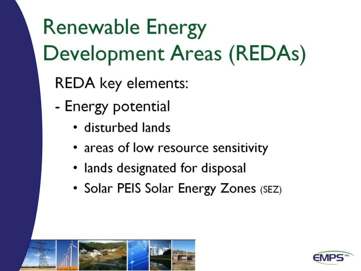 Renewable Energy Development Areas (REDAs)
