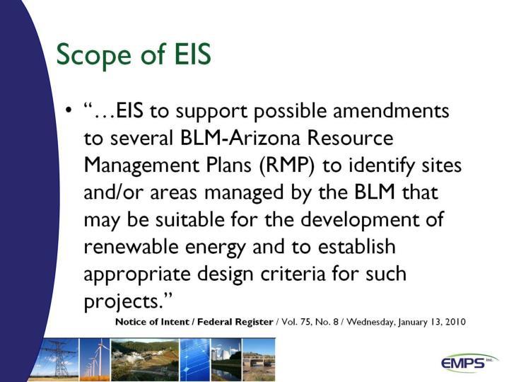 Scope of EIS