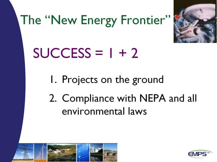 """The """"New Energy Frontier"""""""