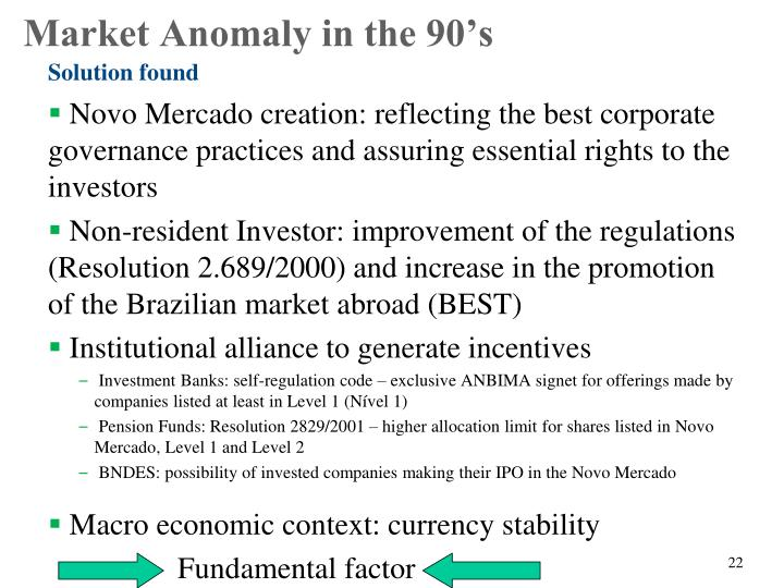 Novo Mercado creation: reflecting the best corporate governance practices and assuring essential rights to the investors