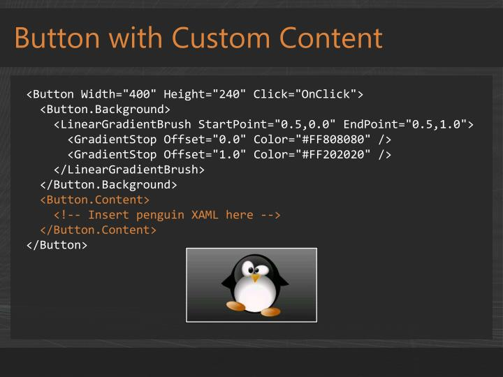 Button with Custom Content