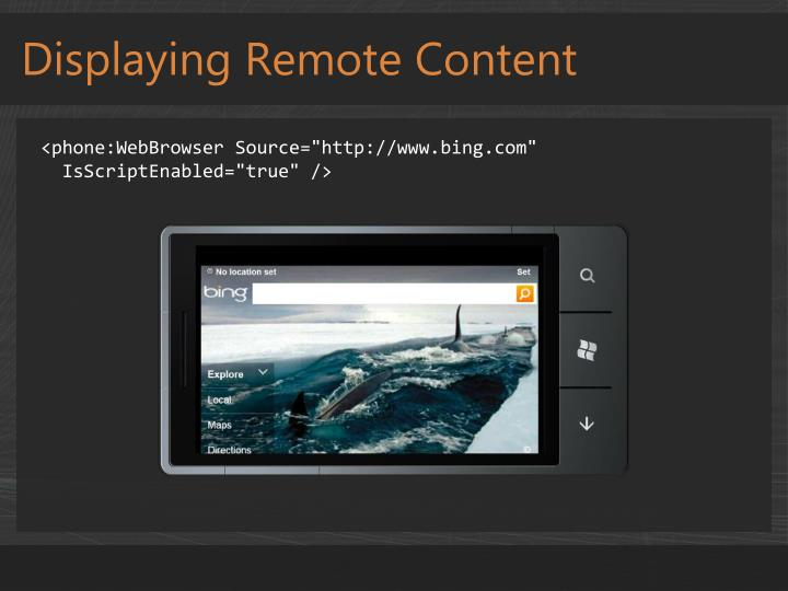 Displaying Remote Content