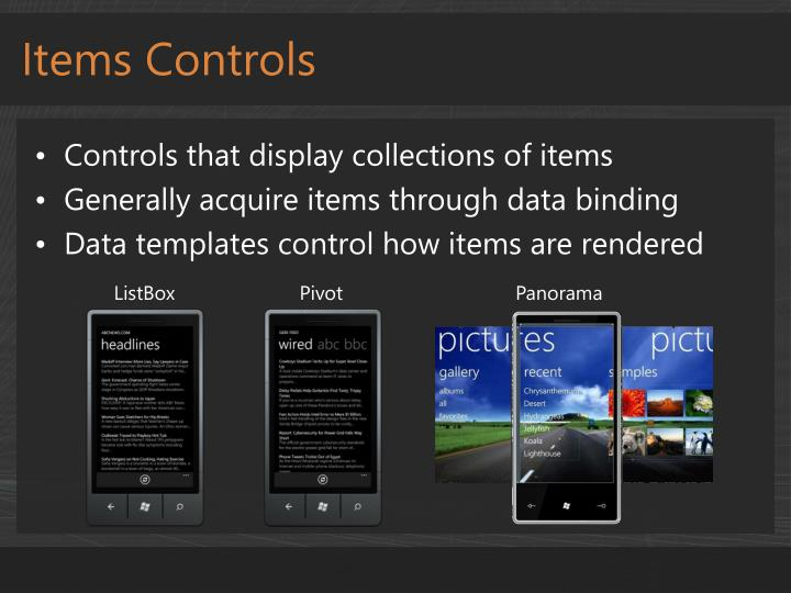 Items Controls