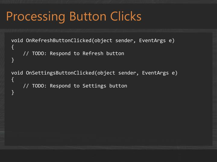 Processing Button Clicks