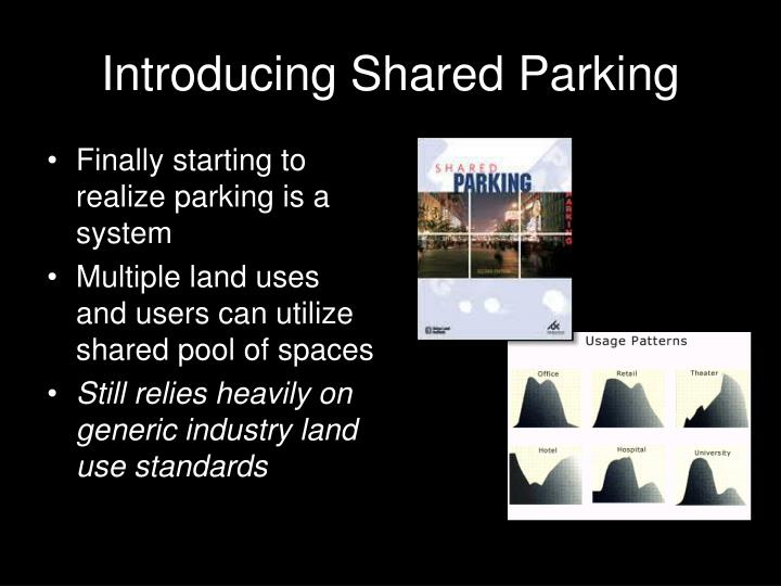 Introducing Shared Parking