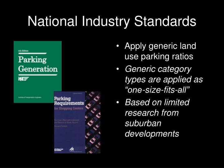 National Industry Standards