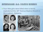 birmingham ala church bombed
