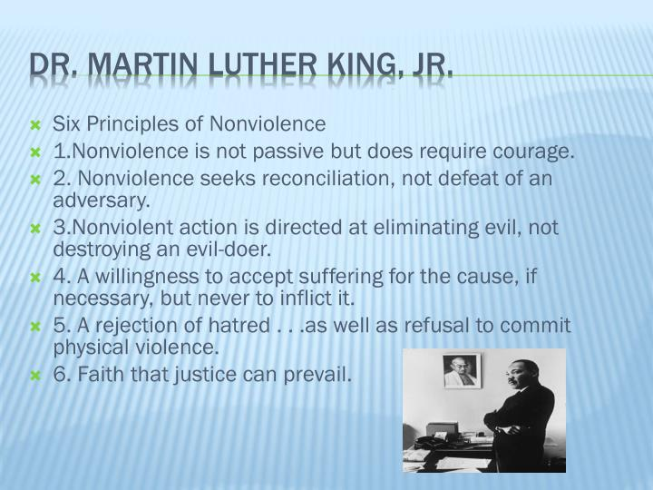 Six Principles of Nonviolence