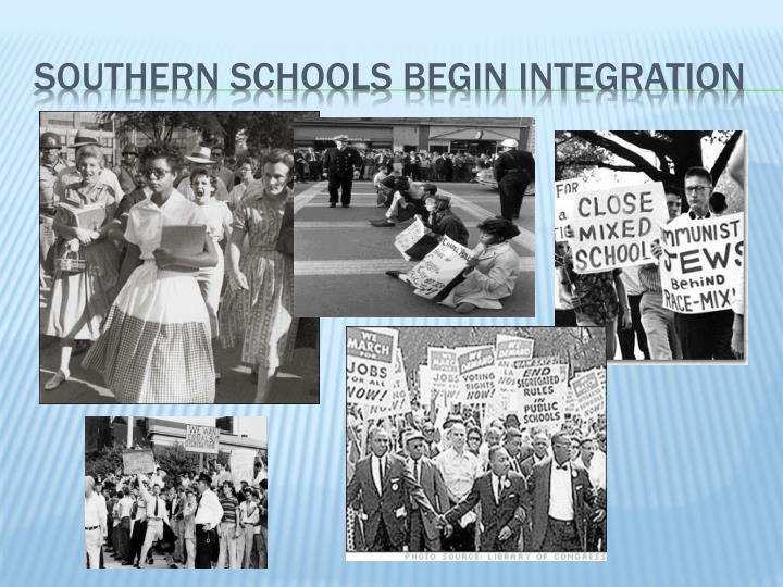 Southern Schools begin integration