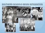 southern schools begin integration