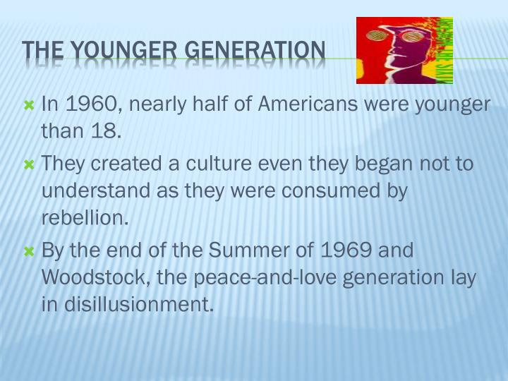 In 1960, nearly half of Americans were younger than 18.