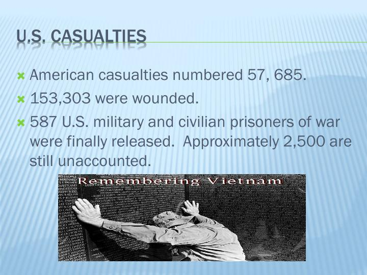 American casualties numbered 57, 685.
