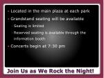 join us as we rock the night