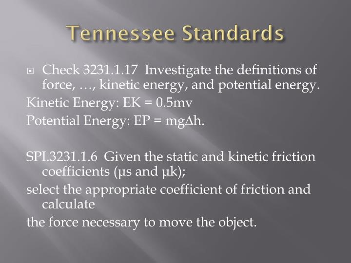 Tennessee Standards