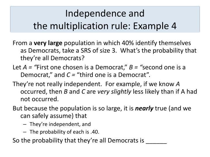 4.2  Probability models: