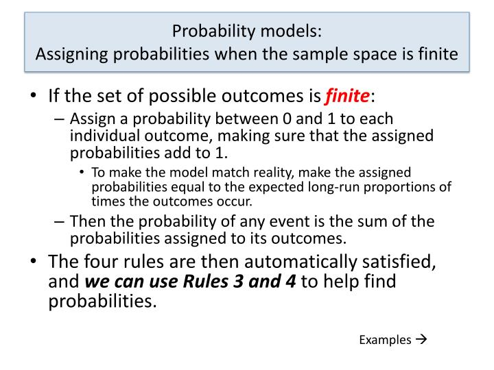 Probability models: