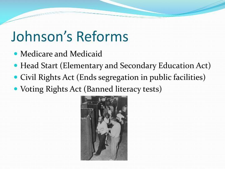 Johnson's Reforms