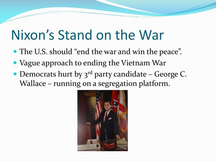 Nixon's Stand on the War