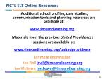 nctl elt online resources