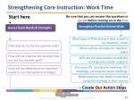 strengthening core instruction work time
