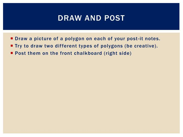 Draw and post