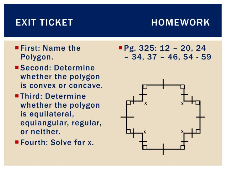 Exit TicketHomework