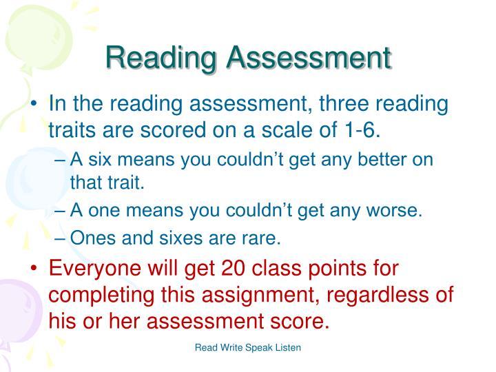 Reading Assessment