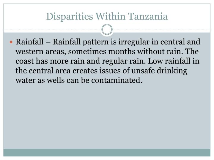 Disparities Within Tanzania