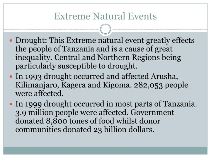 Extreme Natural Events