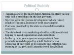 political stabitily