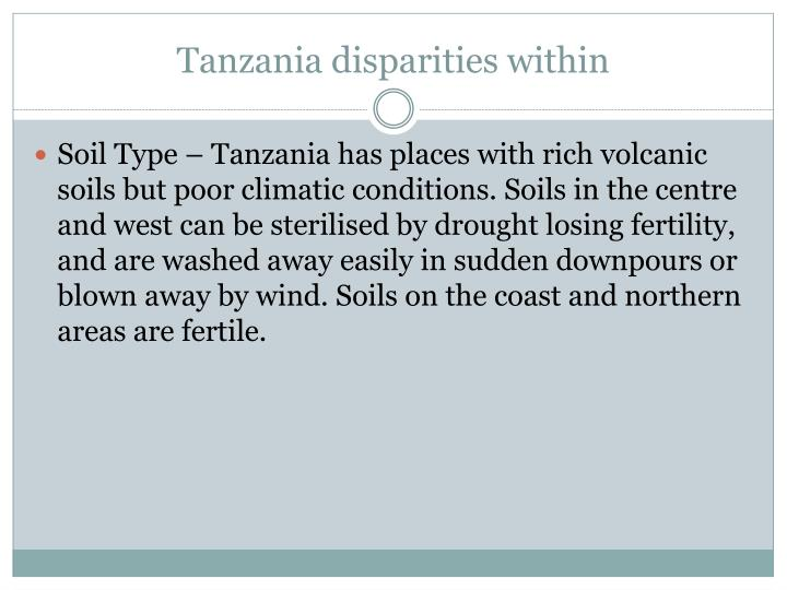 Tanzania disparities within