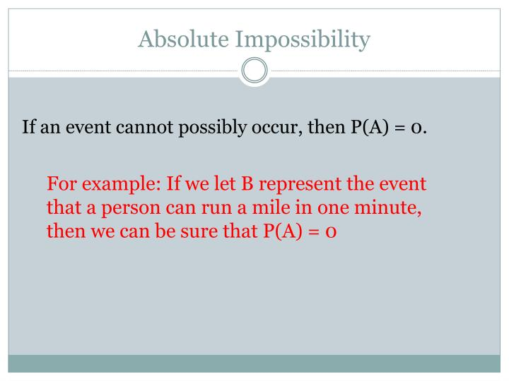 Absolute Impossibility