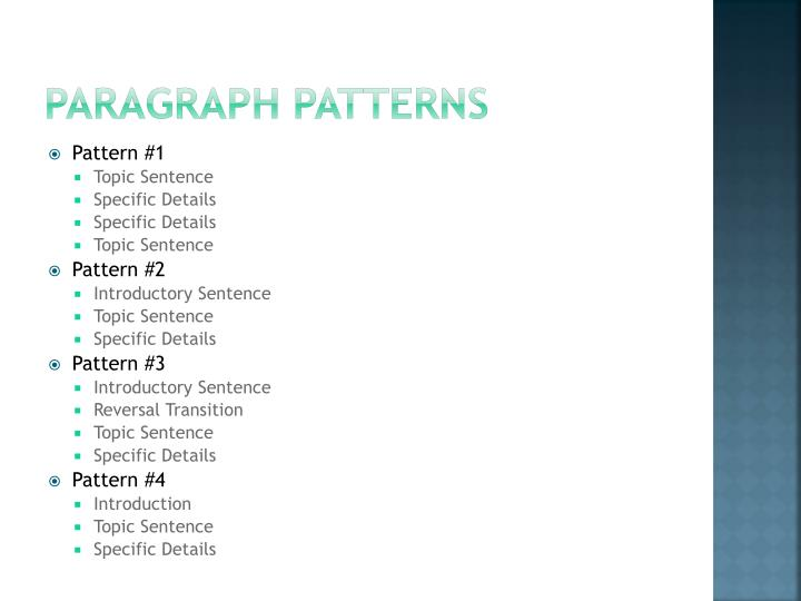 Paragraph Patterns