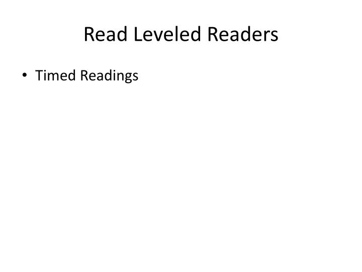 Read Leveled Readers